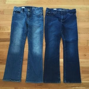 2 pair Gap 1969 Perfect Boot Jeans 29 S excellent